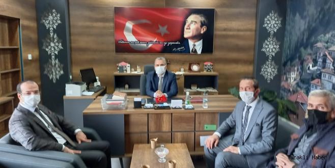 Hacı Yakup Köyü Kültür ve Yardımlaşma Derneğinden İlçe Milli Eğitim Müdürü Korkmaz'a Ziyaret