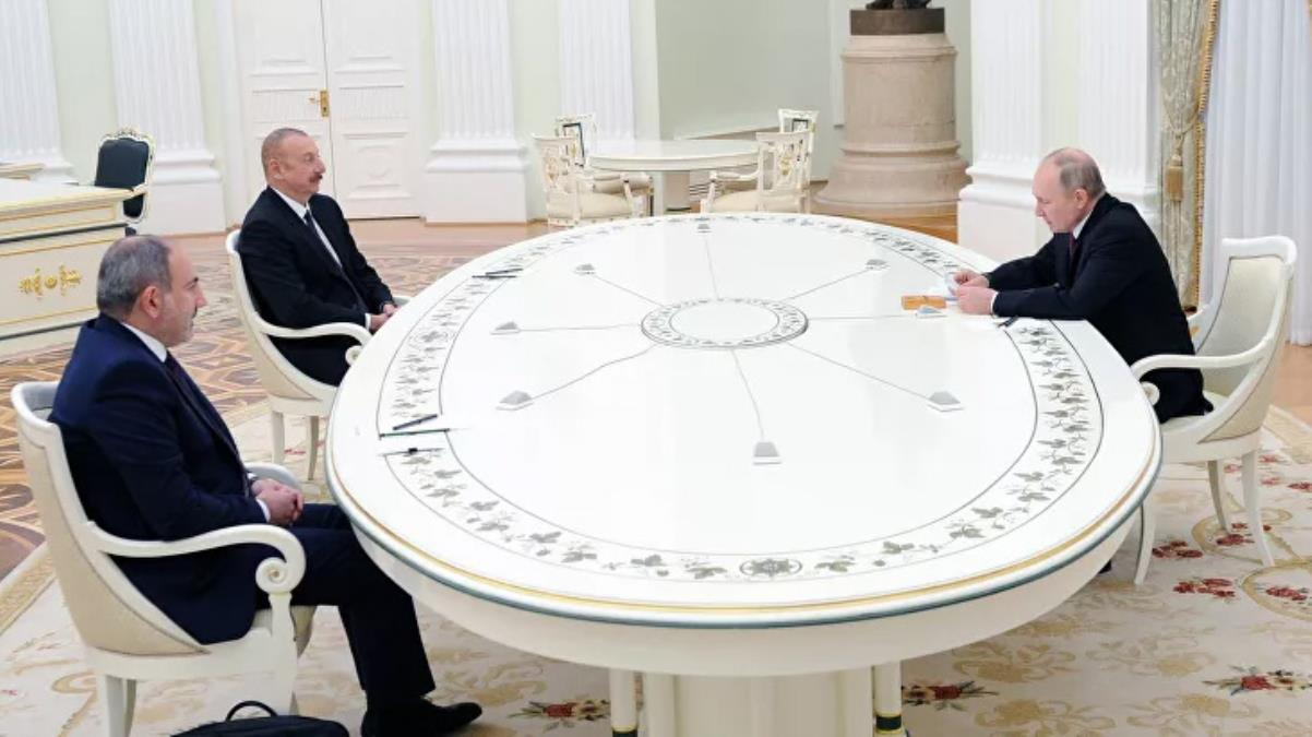 Putin, Aliyev ve Paşinyan arasındaki Dağlık Karabağ görüşmesi sona erdi! 3 ülke ortak çalışma grubu kuracak