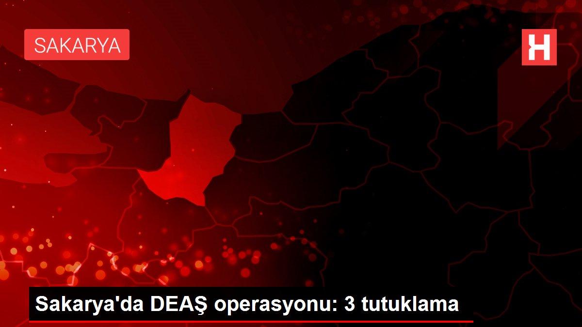 Sakarya'da DEAŞ operasyonu: 3 tutuklama