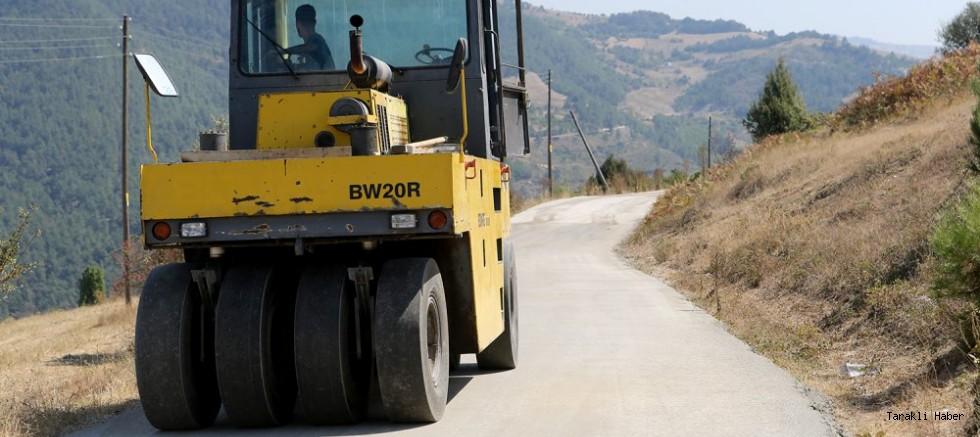 Sıkıştırılmış Beton Yol Çalışmaları Tamamlandı.