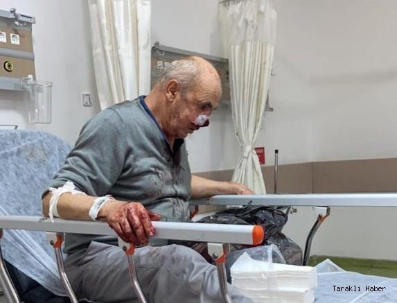 Taral pülverizatör deposu Yüzüne Çarptı